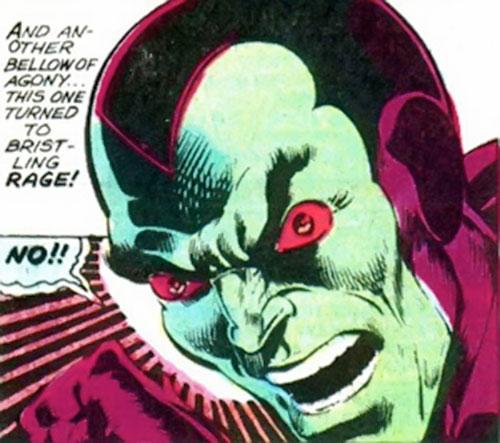 Drax the Destroyer (classic) (Captain Marvel Comics) furious face closeup