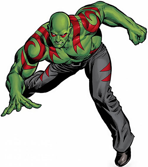 Drax the Destroyer of the Guardians of the Galaxy (Marvel Comics)
