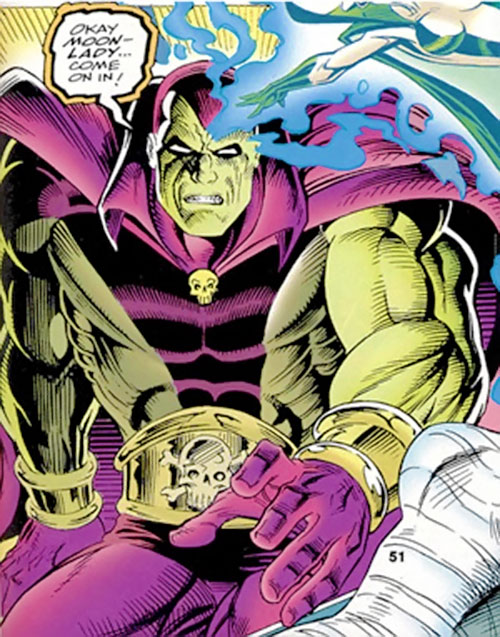Drax the Destroyer of the Infinity Watch (Marvel Comics) and Moondragon