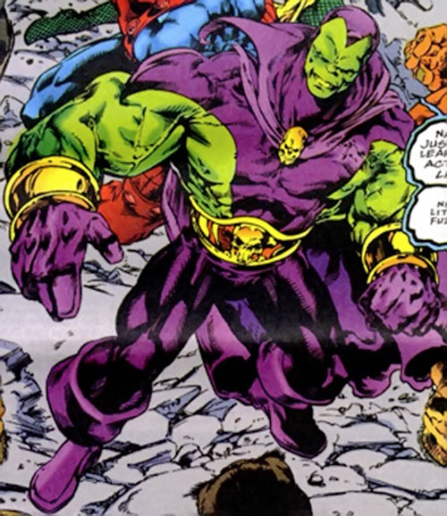 Drax the Destroyer of the Infinity Watch (Marvel Comics) high angle shot