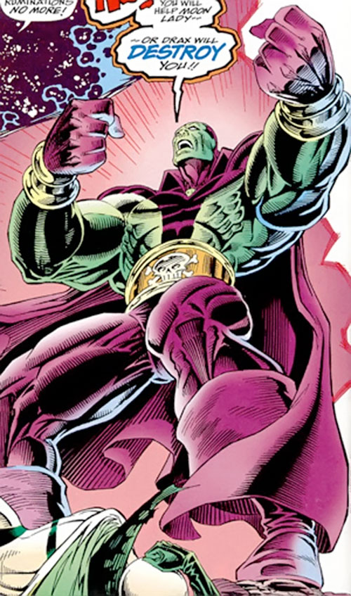 Drax the Destroyer of the Infinity Watch (Marvel Comics) low angle shot