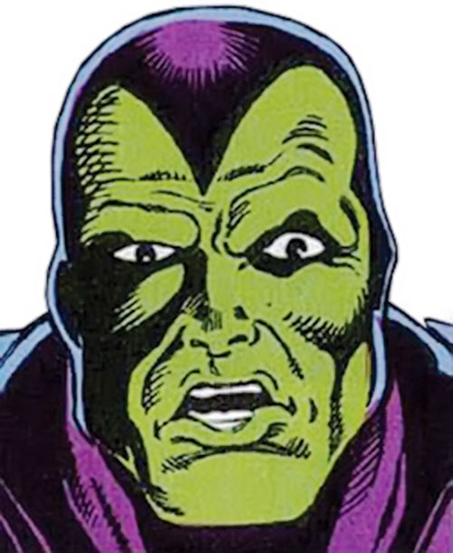 Drax the Destroyer of the Infinity Watch (Marvel Comics) face closeup