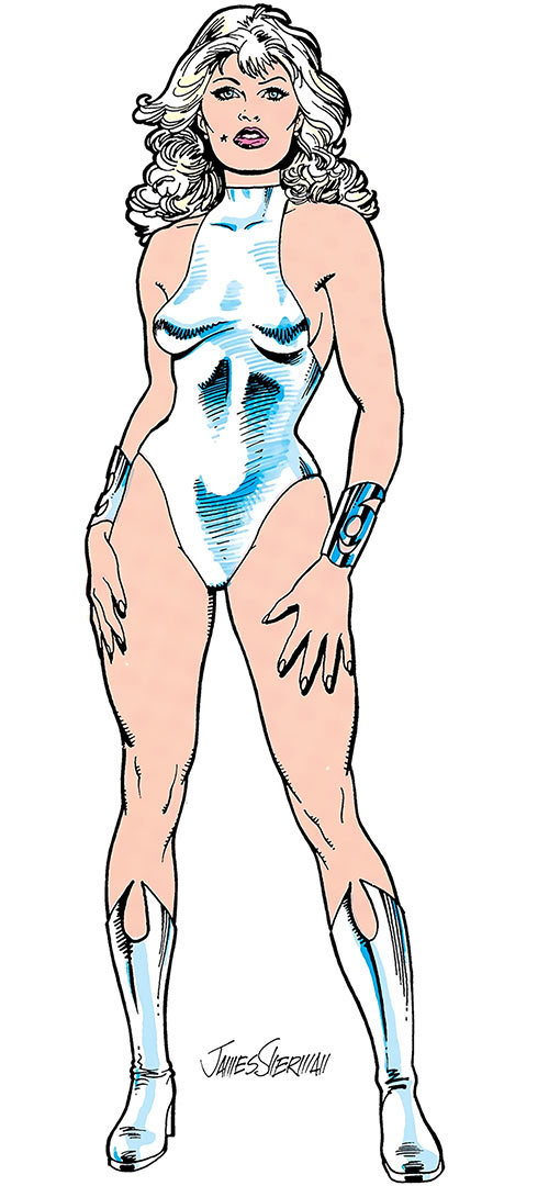 Dream Girl (DC Comics) of the Legion of Super-Heroes. From the 1985 Who's Who, by James Sherman.