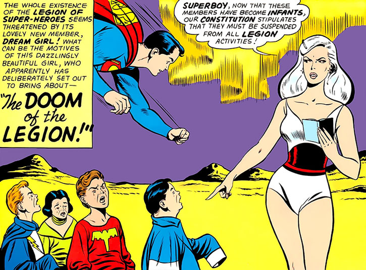 Dream Girl expels part of the Legion of Super-Heroes