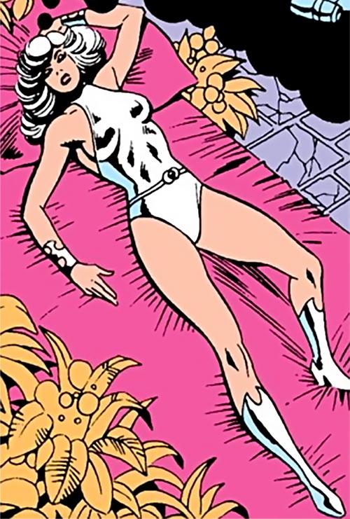 Dream Girl of the Legion of Super-Heroes (pre-reboot) (DC Comics) asleep