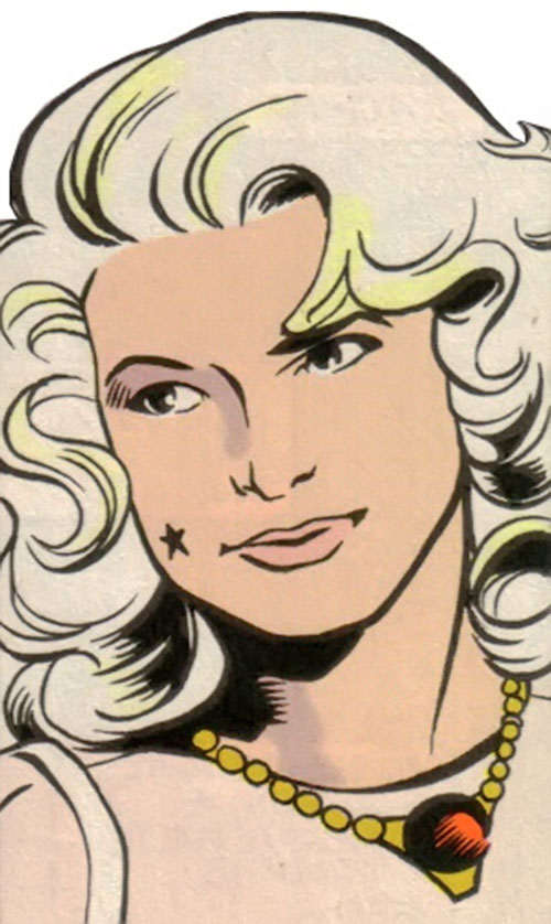 Dream Girl of the Legion of Super-Heroes (pre-reboot) (DC Comics) 5 years later face closeup
