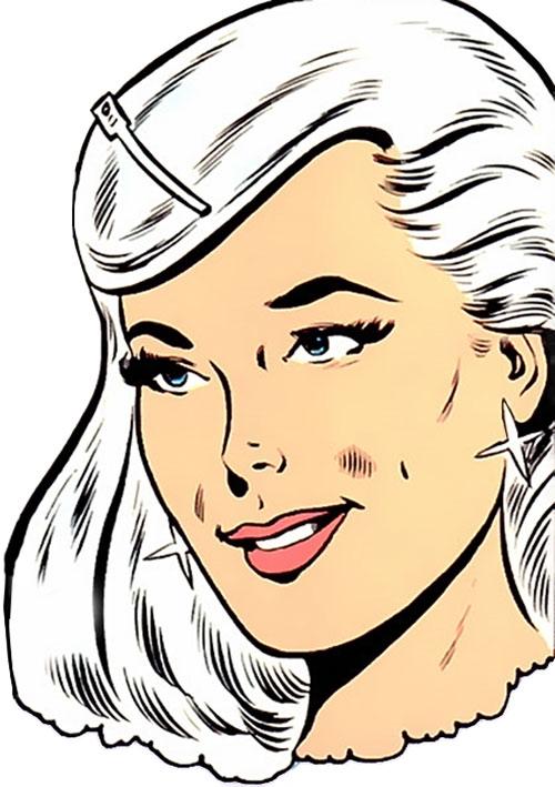 Dream Girl of the Legion of Super-Heroes (pre-reboot) (DC Comics) face closeup