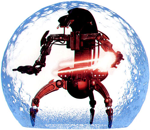 Droideka (Star Wars movie) firing while its force bubble is active