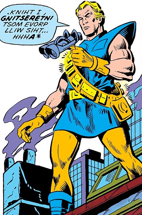 Drom (Marvel Comics) the Backward Man with binoculars