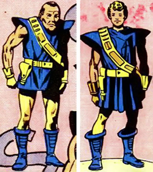 Drom (Marvel Comics) as a middle-aged man and as a boy