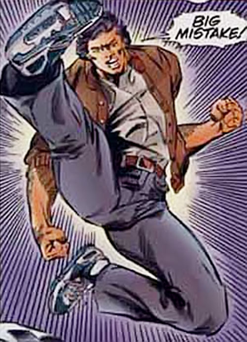 Dropkick of the Solution (Ultraverse comics) in his civvies