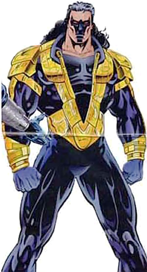 Dropkick of the Solution (Ultraverse comics) in the deep purple and yellow costume