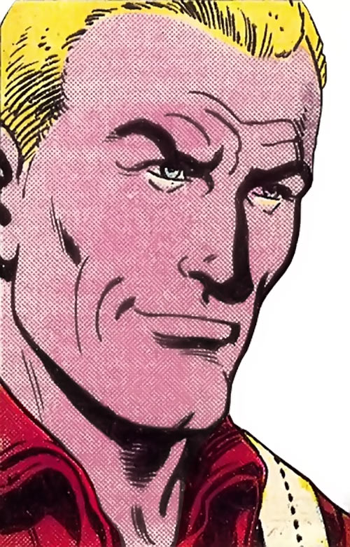 Duke (G.I. Joe) (Marvel Comics) smirking face closeup