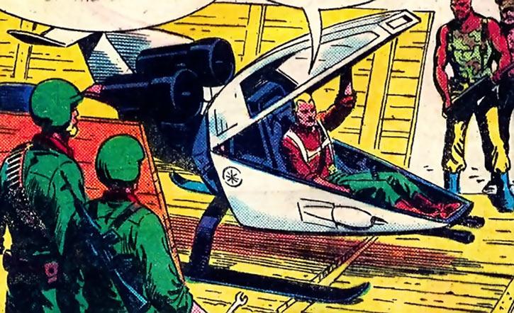 Duke (G.I. Joe) (Marvel Comics) in a Sky Hawk