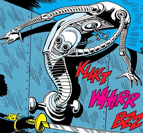 Duke of Oil (Outsiders enemy) (DC Comics) in fully metallic form