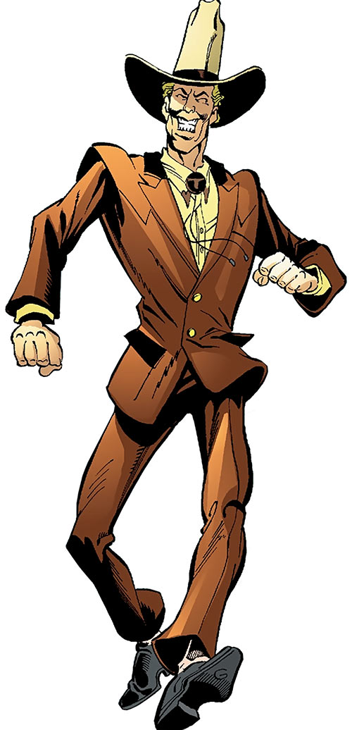 Duke of Oil (Outsiders enemy) (DC Comics) walking bow-legged