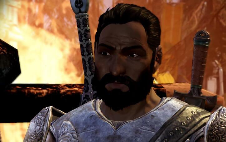 Duncan (Dragon Age Grey Warden) fire