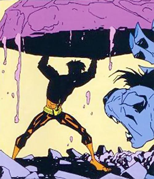 Firebreather (Image Comics) - Duncan Rosenblatt lifting a huge rock