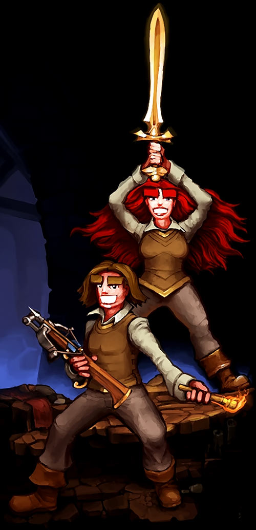 Dungeons of Dredmor player characters art