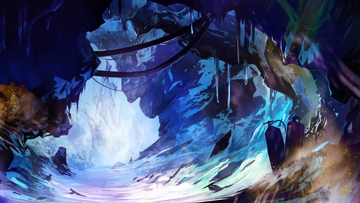 Dungeon of the Endless loading screen art - frozen gorge