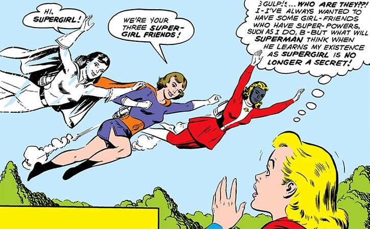 Triplicate Girl, Phantom Girl and Saturn Girl