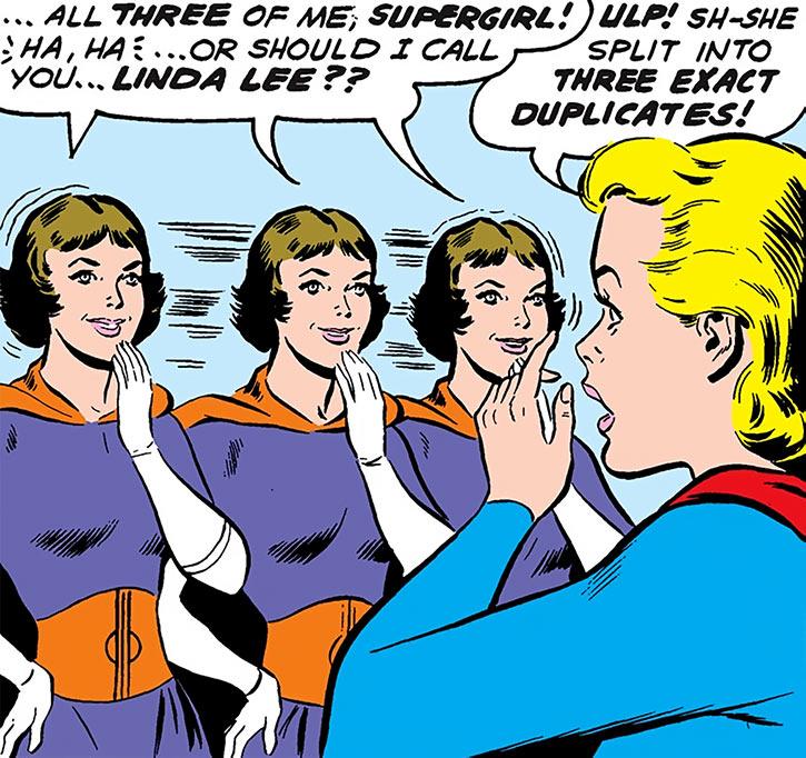Triplicate Girl and Supergirl (Linda Lee)