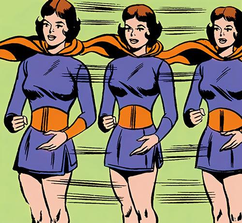 Duo Damsel / Triplicate Girl of the Legion of Super-Heroes (DC Comics Silver Age) splits in 3