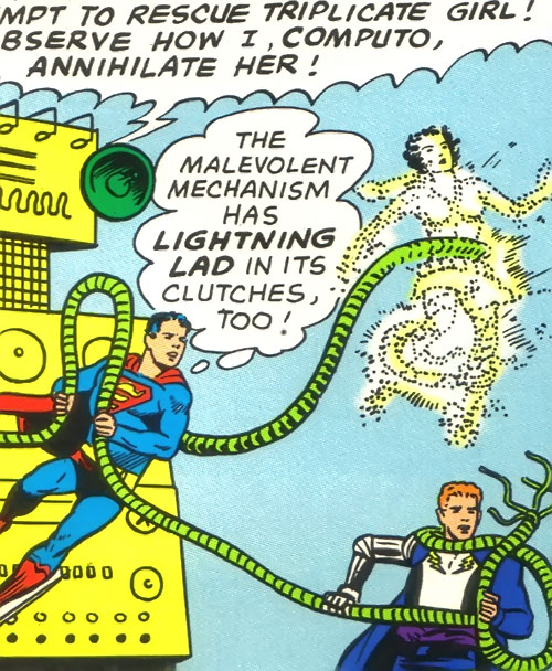 Duo Damsel / Triplicate Girl of the Legion of Super-Heroes (DC Comics Silver Age) killed by Computo