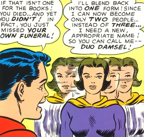 Duo Damsel / Triplicate Girl of the Legion of Super-Heroes (DC Comics Silver Age) and Superboy
