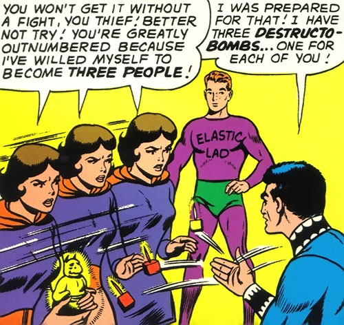 Duo Damsel / Triplicate Girl of the Legion of Super-Heroes (DC Comics Silver Age) and Elastic Lad