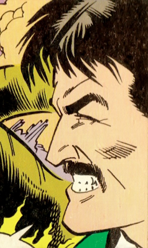 Duplicate Boy (Legion of Super-Heroes character) (DC Comics) with a mustache