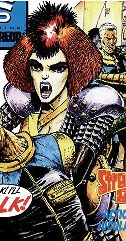 Durham Red (2000AD Comics) with her fangs out