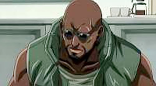 Dutch (Black Lagoon) looking worried