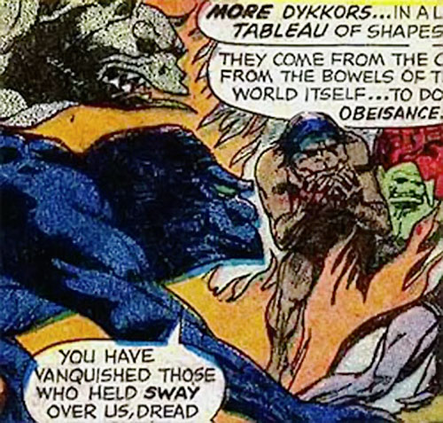 Dykkor demons (Marvel Comics) in a tableau
