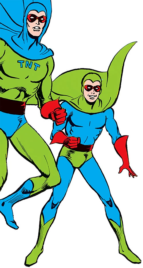 TNT and Dyna-Mite from DC Comics' Who's Who