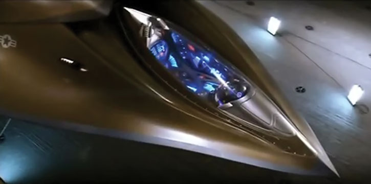 """EDI (Extreme Deep Invader)'s """"cockpit"""""""