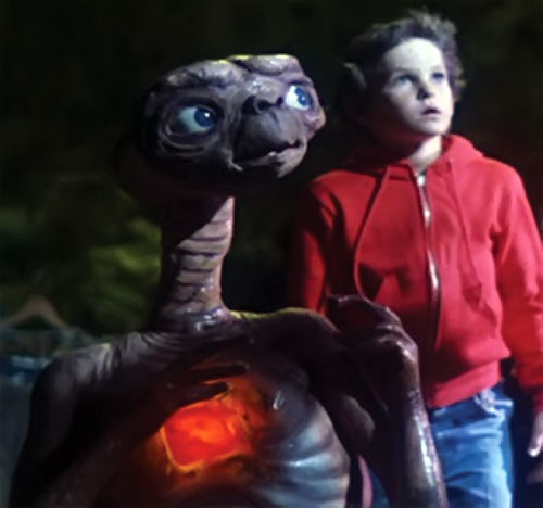 ET the extra-terrestrial (Spielberg movie) alien with Elliot