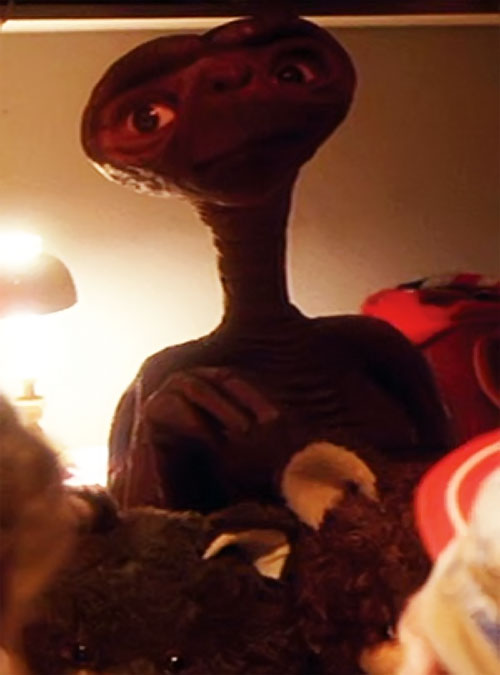 ET the extra-terrestrial (Spielberg movie) alien and plushies