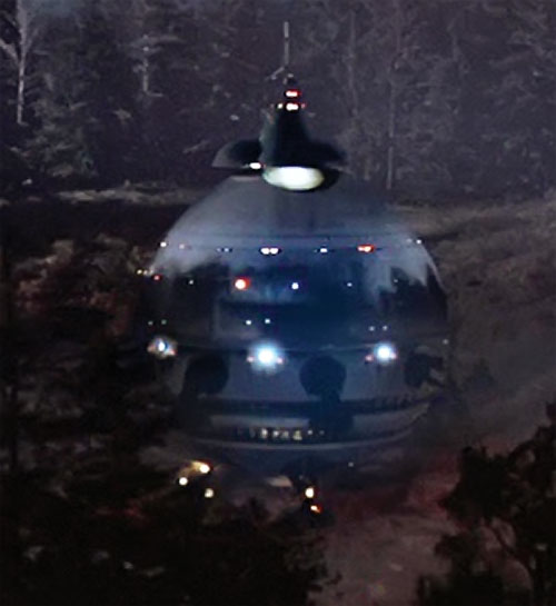 ET the extra-terrestrial (Spielberg movie) alien ship has landed