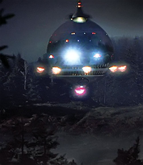 ET the extra-terrestrial (Spielberg movie) alien ship in a forest