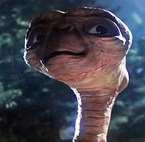 ET the extra-terrestrial (Spielberg movie) alien face closeup