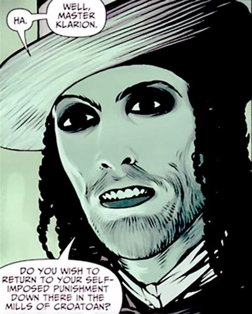 Ebeneezer Badde (7 Soldiers) (DC Comics) face closeup