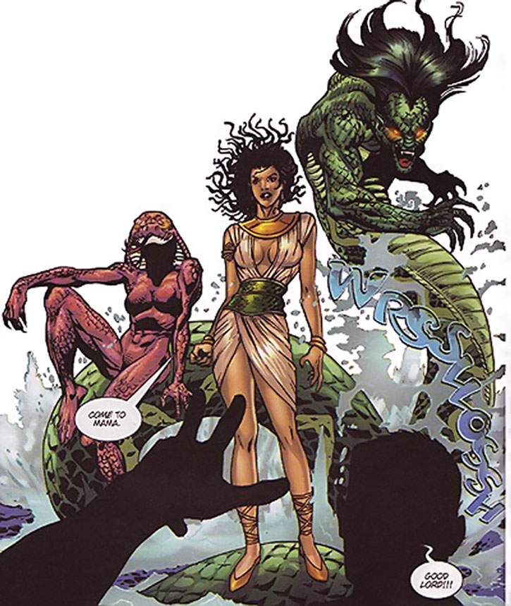Ebony, Valentina and China (Darna enemies)