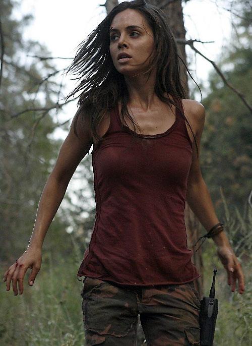 Echo (Eliza Dushku in Dollhouse) as Jenny - red tank top
