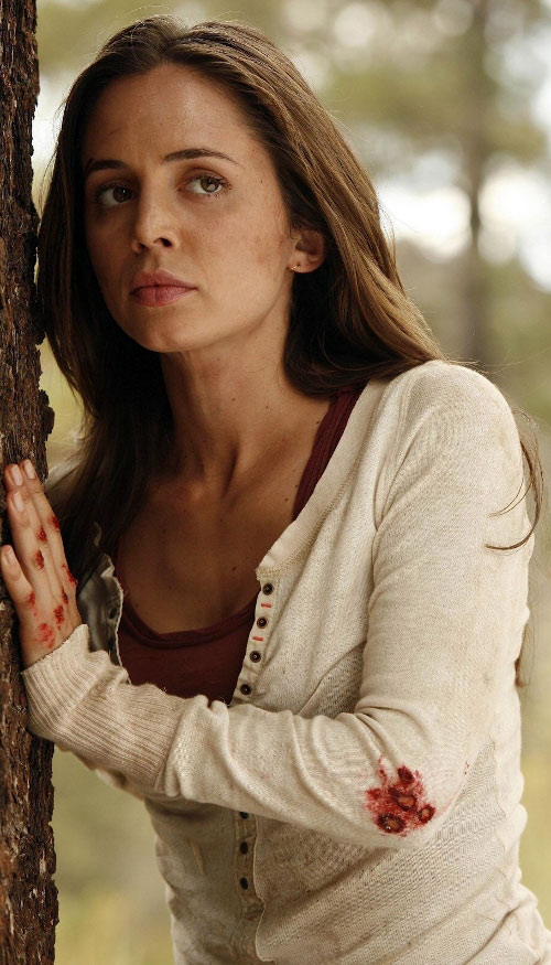 Echo (Eliza Dushku in Dollhouse) as Jenny - bloodied hands and elbows
