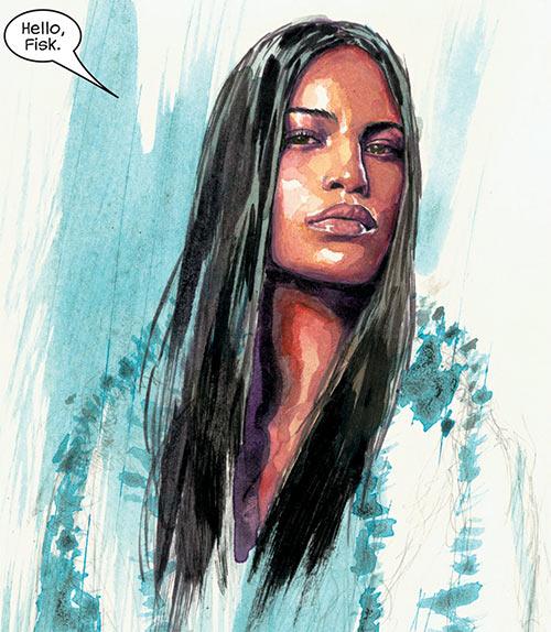 Echo (Marvel Comics) by David Mack, white coat and lightning