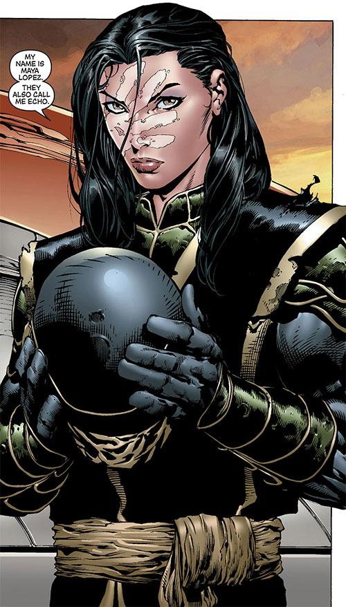 Echo (Maya Lopez) as Ronin (Marvel Comics), unmasked