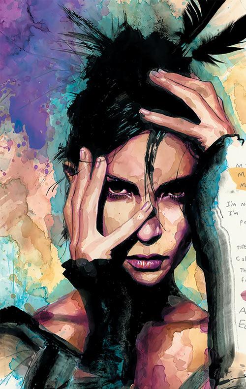 Echo (Maya Lopez) (Marvel Comics) portrait by David Mack