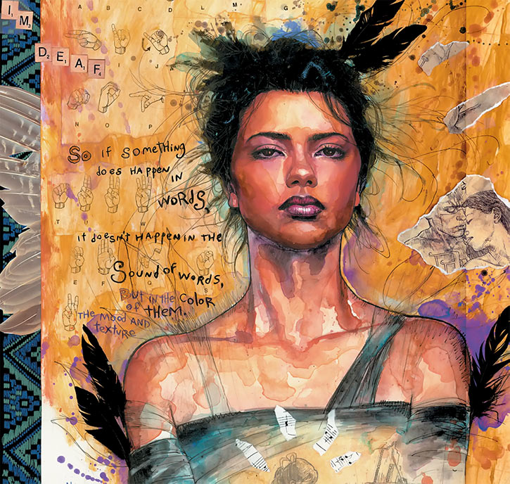 Echo (Maya Lopez) painting by David Mack
