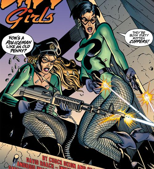 Query and Echo (Batman Ridder DC Comics) gunfire